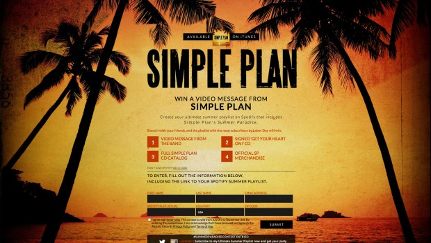 Simple Plan Summer Paradise Spotify Contest