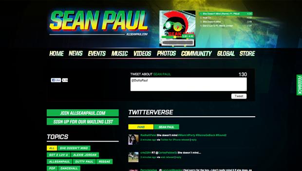 Twitterverse – Sean Paul