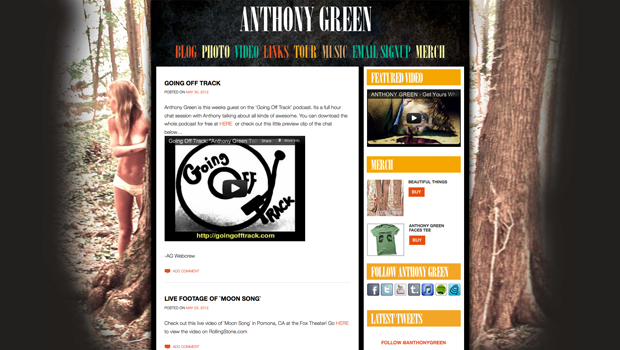 Anthony Green WP Site