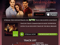 Breaking Dawn Soundtrack Facebook App