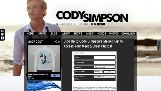 Cody Simpson Fan Photos