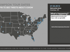 Cody Simpson Twitter Tour Map