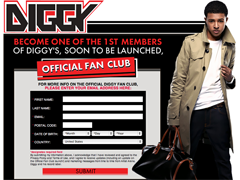 Diggy Fanclub Sign Up