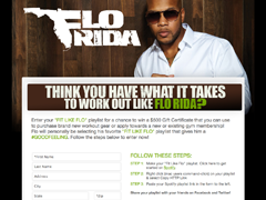 Flo Rida Spotify Contest Page
