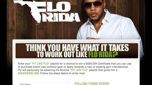 Flo Rida Spotify Contest Page