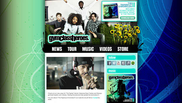 Gym Class Heroes Tumblr Site