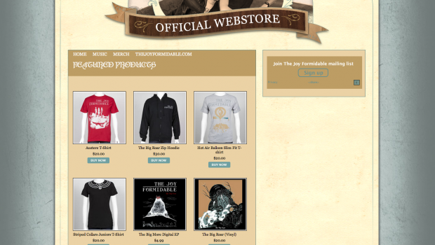The Joy Formidable WP Web Store