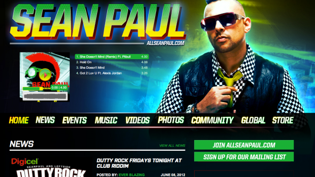 Sean Paul Custom Soundcloud Player