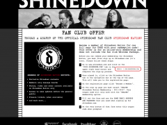 Shinedown Fan Club Offer