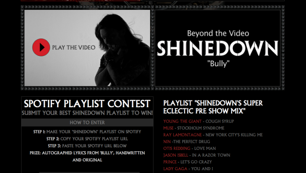 Shinedown Spotify Contest